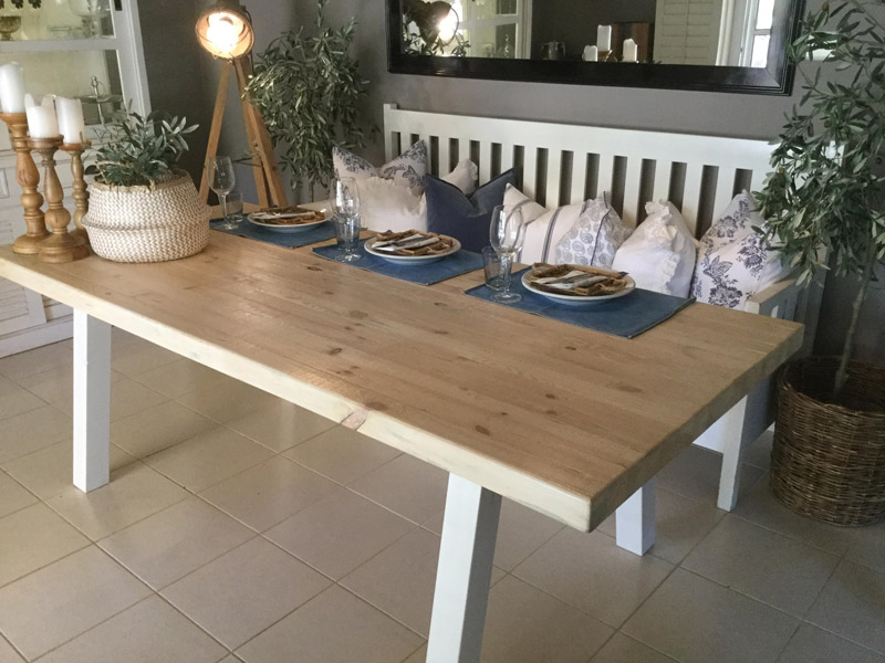 Rustic and chunky all wood dining table sand interior chunky all wood dining table bs4 bs3 watchthetrailerfo
